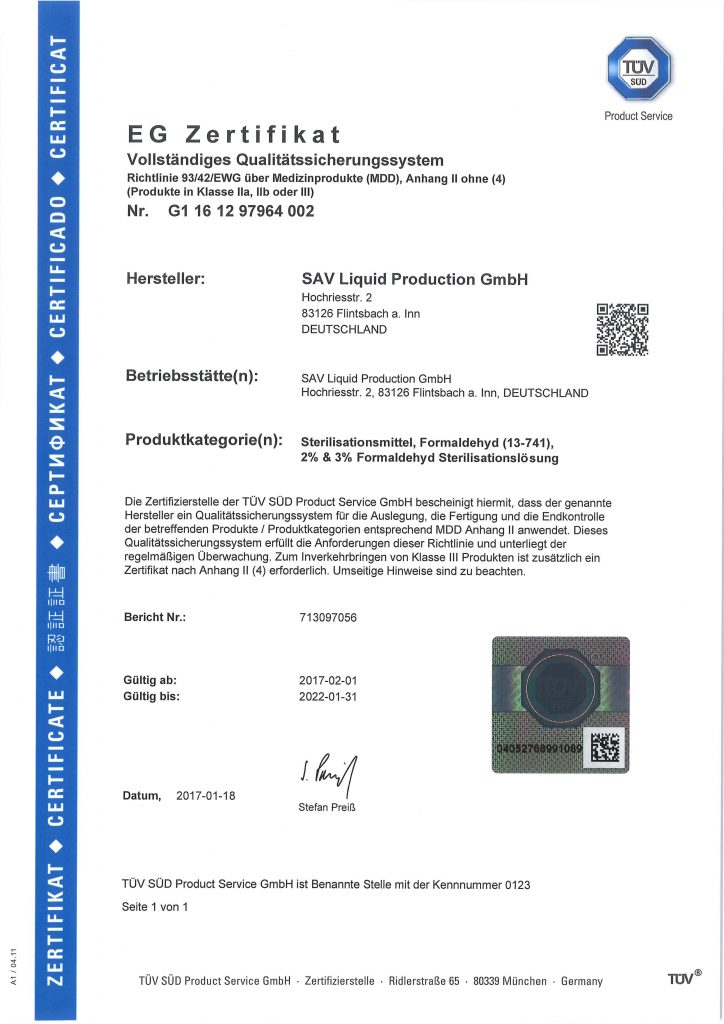 EG Zertifikat