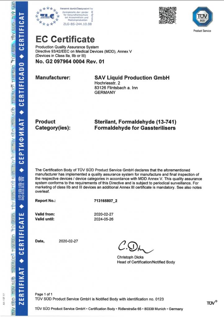 EC-Zertifikat