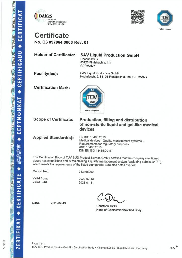 Iso Zertifikat Englisch